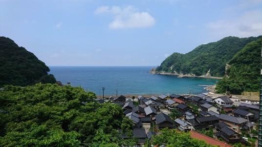 餘部駅から日本海